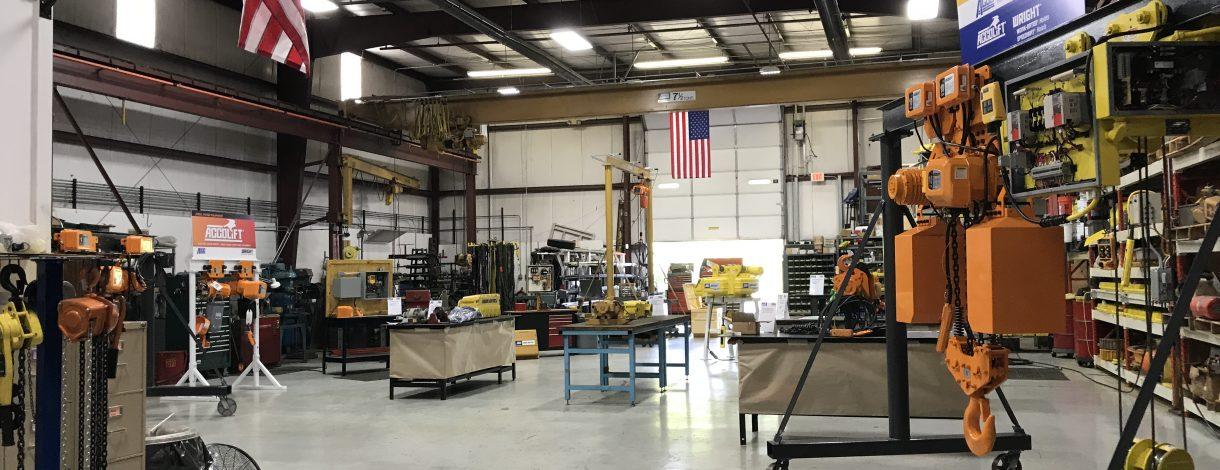 Hoists in Warehouse