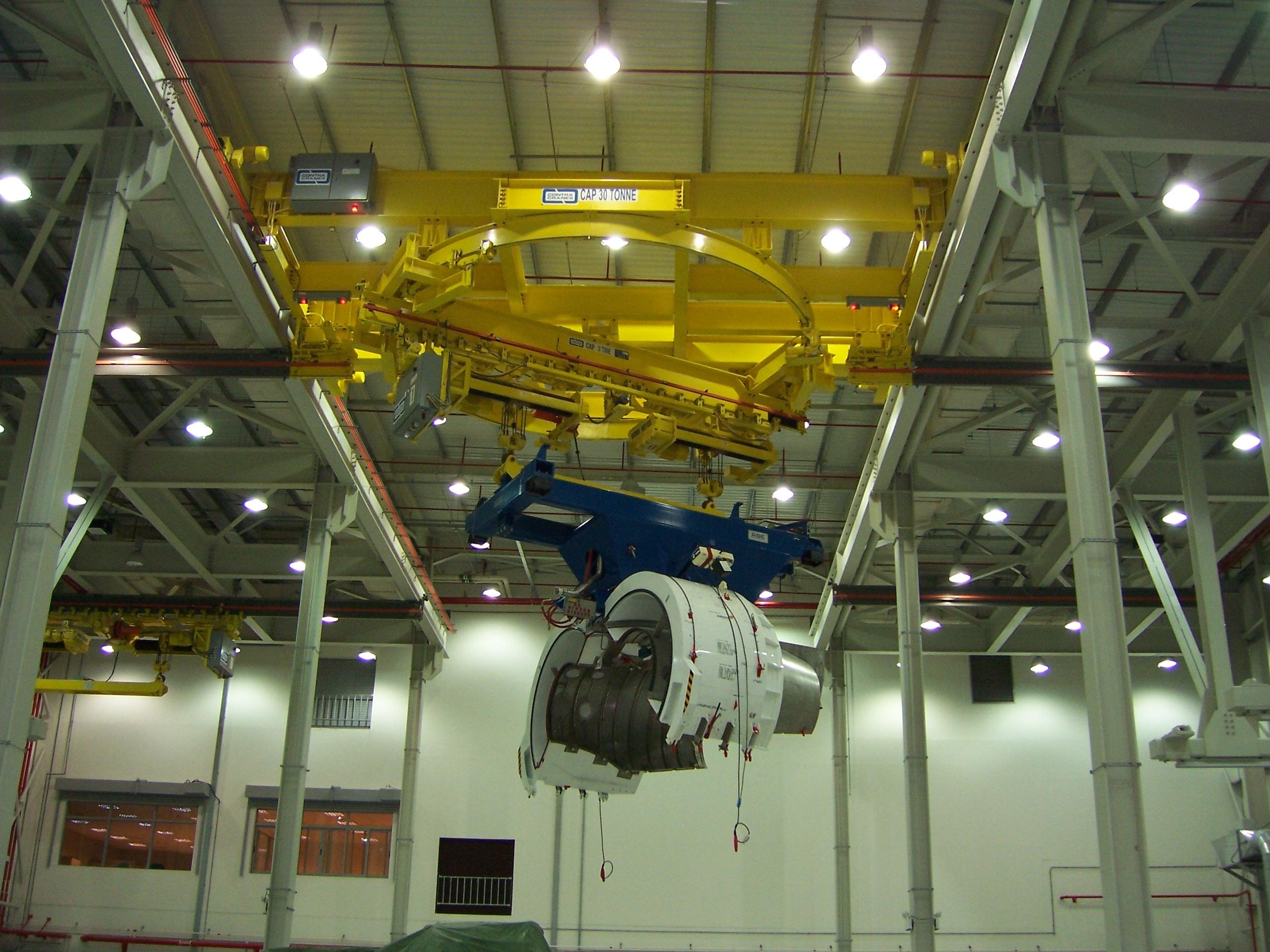 Acco Overhead Crane Solution for Aerospace Manufacturer