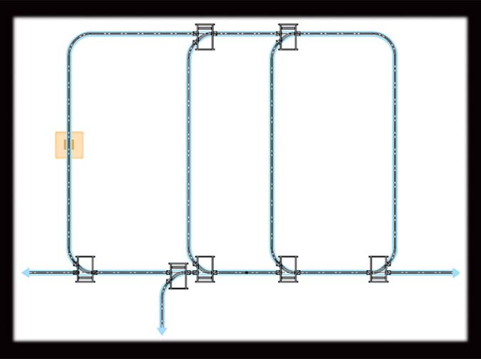 Trambeam® Monorail Systems illustration