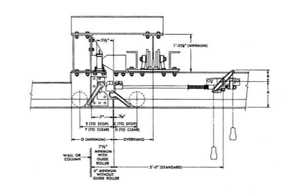 Hand Operated Latch Trambeam illustration