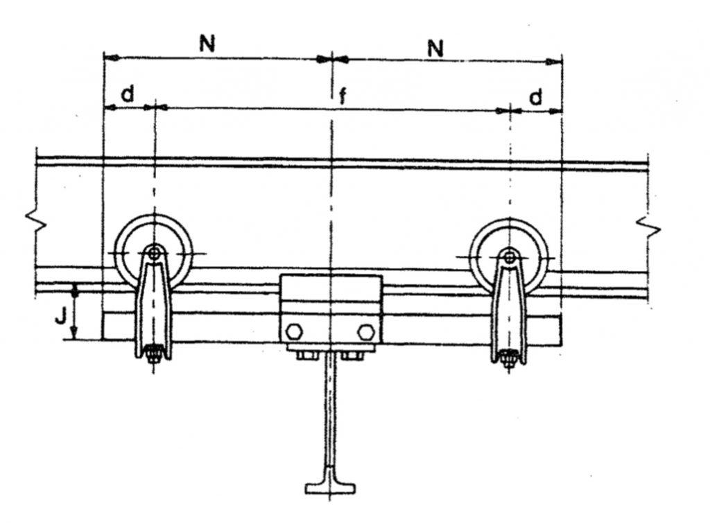 PushPull Hand Geared Crane Trambeam illustration