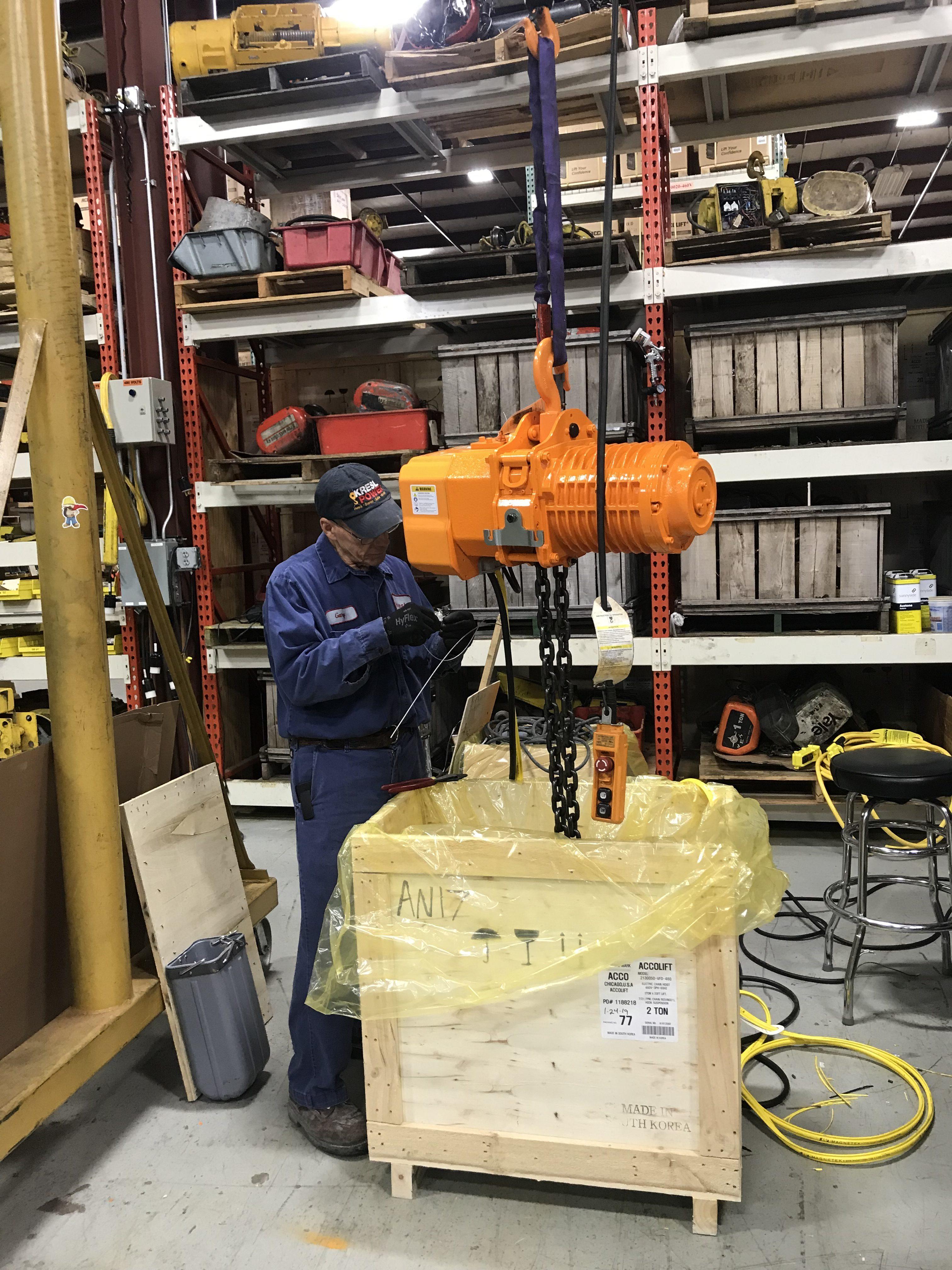 Acco hoist inspection