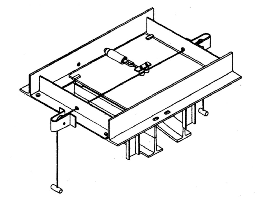 Non-Electrified Sliding Switches Trambeam illustration
