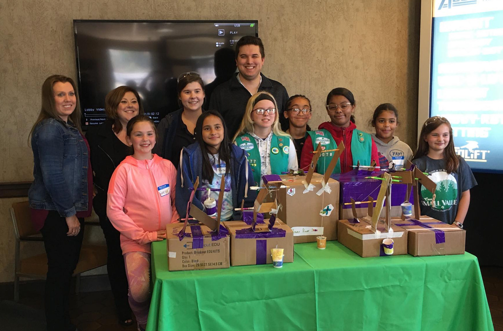 Girl Scouts Visit Acco