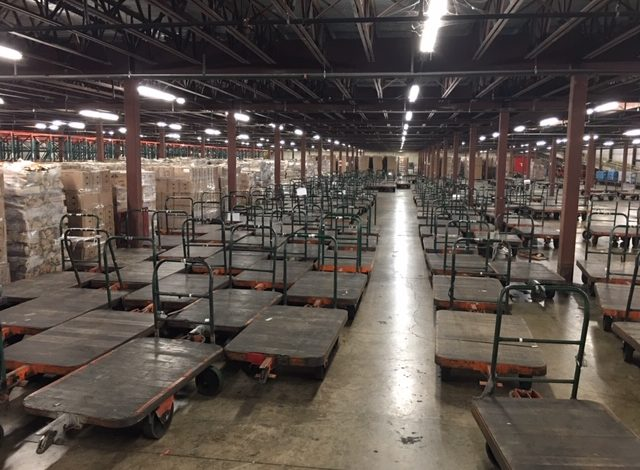 nutting carts in warehouse
